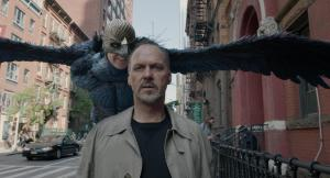Riggan Thomson (Michael Keaton) and his nemesis/alter ego in Birdman