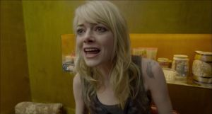 Riggan Thomson's long-suffering daughter Sam (Emma Stone) in Birdman
