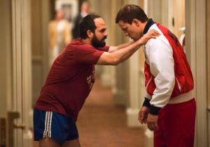 The wheels come off for Mark Schultz (Channing Tatum) despite his brother Dave's (Mark Ruffalo) help in Foxcatcher