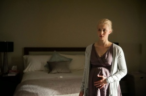 Anthony's pregnant wife Helen (Sarah Gadon) in Enemy