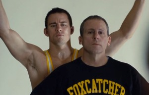 Good times: Mark Schultz (Channing Tatum) and Team Foxcatcher's John du Pont (Steve Carell) in Foxcatcher