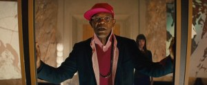 Dot com douchebag Richmond Valentine (Samuel L Jackson) in Kingsman: The Secret Service