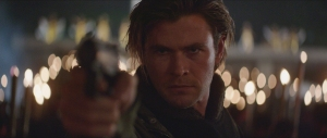 Hathaway (Chris Hemsworth) has a view to a kill in Blackhat