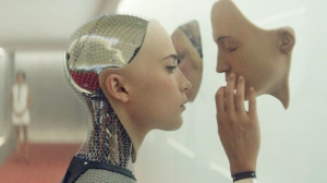 I Robot: Ava (Alicia Vikander) learns more about herself in Ex Machina