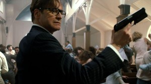 Spy Harry Hart (Colin Firth) creates holy hell in Kingsman: The Secret Service