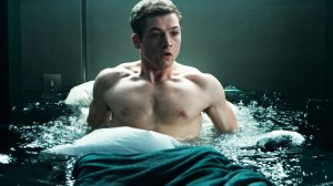 Eggsy (Taron Egerton) in deep water in Kingsman: The Secret Service