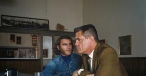 Me and my shadow: 'Doc' Sportello (Joaquin Phoenix) and Detective 'Bigfoot' Bjornsen (Josh Brolin) in Inherent Vice