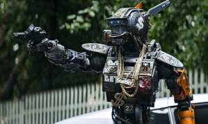 Chappie (Sharlto Copley) goes all street