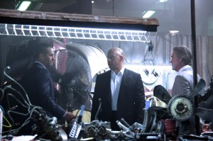 Dom (Vin Diesel) and Brian (Paul Walker) encounter the enigmatic Mr Nobody (Kurt Russell) in Fast And Furious 7