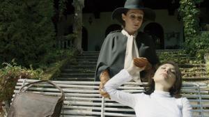 Cynthia (Sidse Babett Knudsen) tends to Evelyn (Chiara D'Anna) in the