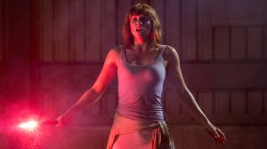 Claire Dearing (Bryce Dallas Howard) has a flare for the dramatic in Jurassic World