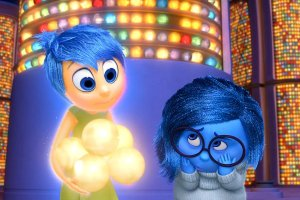 It's going to get emotional: Joy (Amy Poehler) and Sadness (Phyllis Smith) in Inside Out