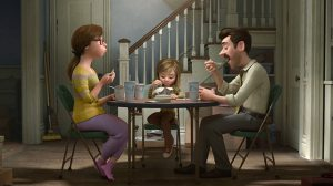 Riley's (Kaitlyn Dias) not happy with mum and dad (Diane Lane and Kyle MacLachlan) in Inside Out