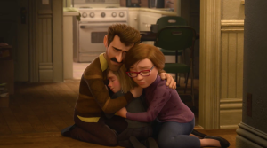 Family time for Riley (Kaitlyn Dias) and her mum and dad (Diane Lane and Kyle MacLachlan) in Inside Out