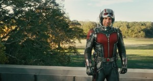 Scott Lang (Paul Rudd) dons the superhero suit in Ant-Man