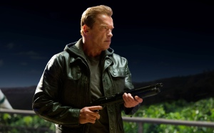 I'll be back...again: 'Pops' (Arnold Schwarzenegger) in Terminator Genisys