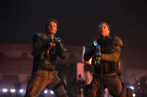 John Connor (Jason Clarke) and Kyle Reese (Jai Courtney) take the war to the machines in Terminator Genisys