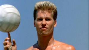 Iceman (Val Kilmer) dominates the beach volleyball arena in Top Gun