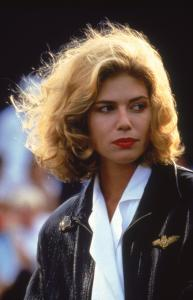 80s hair! 'Charlie' Blackwood (Kelly McGillis) in Top Gun