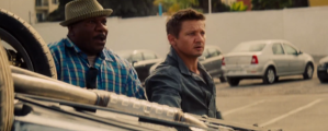 IMF-ers Luther Stickell (Ving Rhames) and William Brandt (Jeremy Renner) in Mission: Impossible - Rogue Nation
