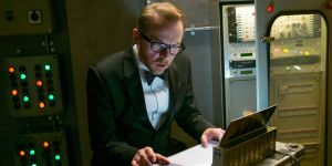 Sardonic IMF agent Benji Dunn (Simon Pegg) in Mission: Impossible - Rogue Nation