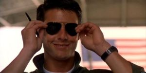 There's that smile: Tom Cruise plays Maverick in Top Gun