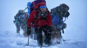 Things start going wrong for Rob Hall (Jason Clarke) and his clients on Everest