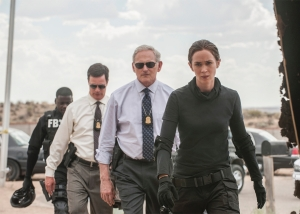 Kate Macer (Emily Blunt), Dave Jennings (Victor Garber) and their fellow agents tackle the war on drugs in Sicario