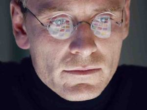 Steve Jobs (Michael Fassbender) in his iconic polo neck and jeans phase