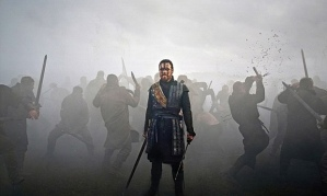 Michael Fassbender has his 300 moment in Macbeth