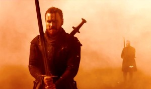 Sound and fury: Michael Fassbender stars in Macbeth