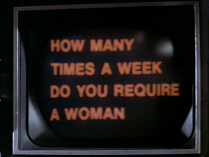 Saucy! Machine love in Colossus: The Forbin Project