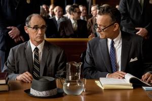 """Would it help?"": James B. Donovan (Tom Hanks) and suspected Soviet spy Rudolf Abel (Mark Rylance) in Bridge Of Spies"