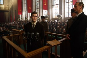 U-2 spy plane pilot Francis Gary Powers (Austin Stowell) has his day in court in Bridge Of Spies