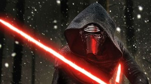 Kylo Ren (Adam Driver) has anger issues in Star Wars Episode VII - The Force Awakens