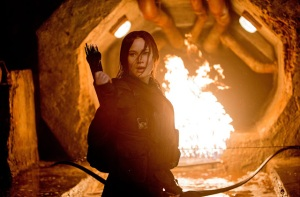 Girl on fire: Katniss (Jennifer Lawrence) in The Hunger Games: Mockingjay - Part 2