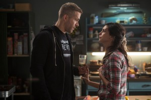 Wade Wilson (Ryan Reynolds) in happier times with girlfriend Vanessa (Morena Baccarin) in Deadpool