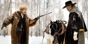 "Blood on the snow: ""The Hangman"" (Kurt Russell) and ""The Bounty Hunter"" (Samuel L. Jackson) in The Hateful Eight"