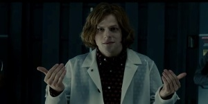 Jesse Eisenberg trying not to overact as Lex Luthor in Batman vs Superman: Dawn Of Justice