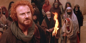 Judas (Harvey Keitel) and the disciples follow Jesus in The Last Temptation Of Christ