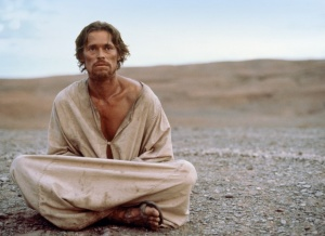 Jesus (Willem Dafoe) goes into the desert in The Last Temptation Of Christ