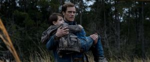 Alton (Jaeden Lieberher) and his devoted father Roy (Michael Shannon) in Midnight Special