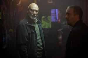 Nazis: The Next Generation: Darcy (Patrick Stewart) and Gabe (Macon Blair) in Green Room