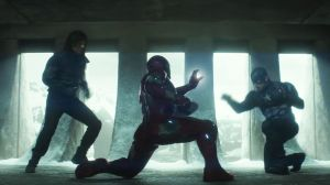 Who needs friends? Iron Man (Robert Downey Jr) goes up against Cap (Chris Evans) and Bucky Barnes (Sebastian Stan) in Captain America: Civil War