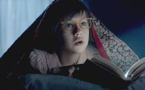 Orphan Sophie (Ruby Barnhill) can't believe what she's just seen in The BFG