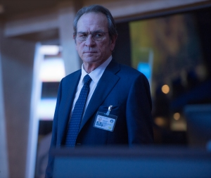 Another day, another dodby CIA Director: Tommy Lee Jones plays spook Robert Dewey in Jason Bourne