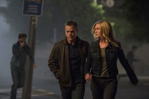 Back together again: Bourne (Matt Damon) and Nicky Parsons (Julia Stiles) in Jason Bourne