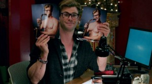Chris Hemsworth as nice-but-dim secretary Kevin Beckman in Ghostbusters