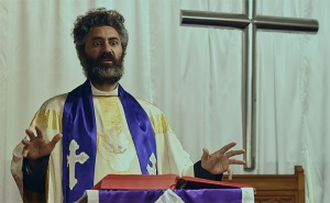 Taika Waititi as a surreal minister in Hunt For The Wilderpeople